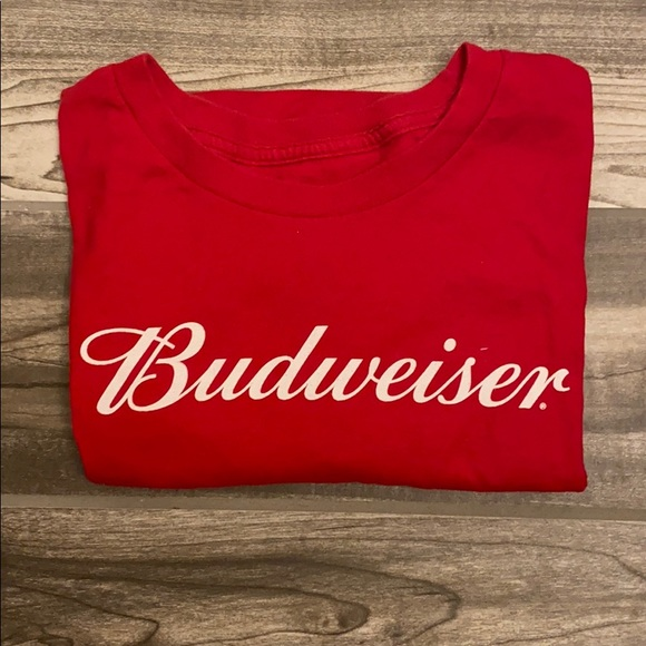 Hanes Other - Men's Budweiser Red Size Large Hanes T-shirt